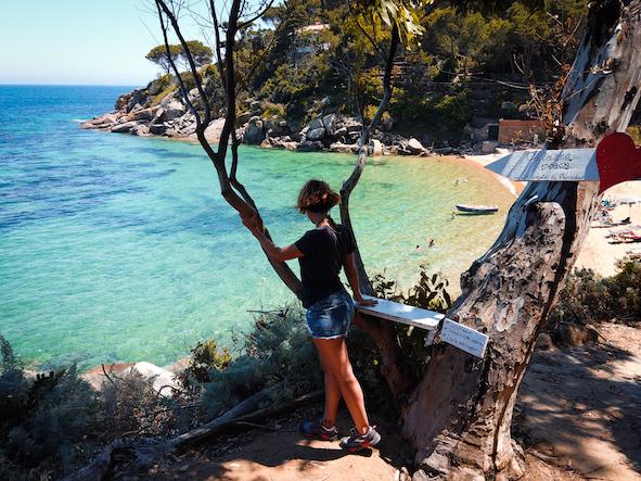 spiaggia le cannelle Isola del Giglio