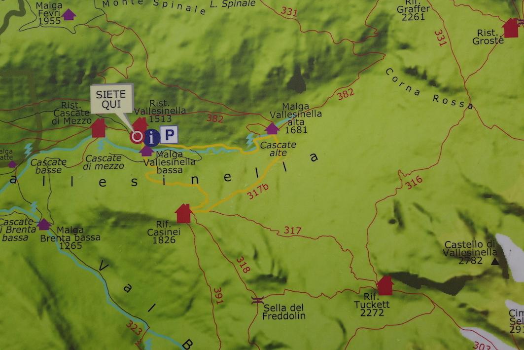 Mappa rifugio Tuckett intramundi